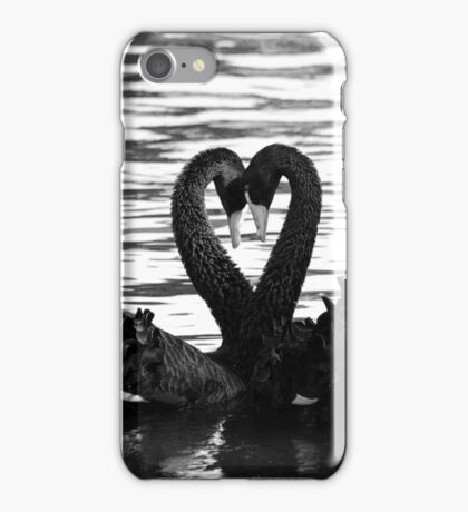 Swan sign language iPhone Case/Skin
