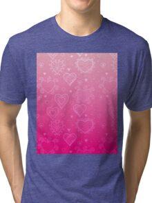 Pink Hearts Tri-blend T-Shirt