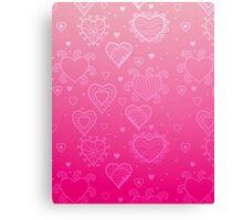 Pink Hearts Canvas Print