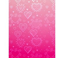 Pink Hearts Photographic Print