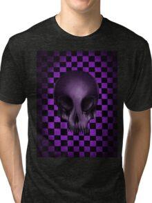 Purple Skull Tri-blend T-Shirt