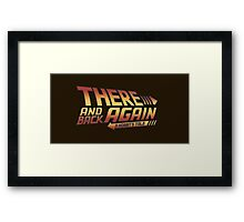 There and Back Again - A Hobbit's Tale Framed Print