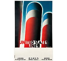 Vintage poster - United States Lines Photographic Print