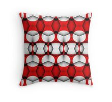 Strong red geometric pattern. Throw Pillow