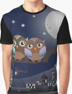 Owls in love kawaii Graphic T-Shirt