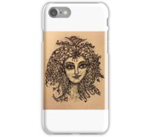 Beautiful Zentangle Vintage Look Fairy iPhone Case/Skin