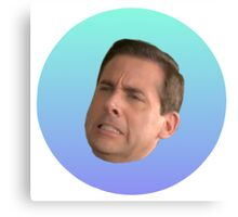 Michael Scott Face Canvas Print
