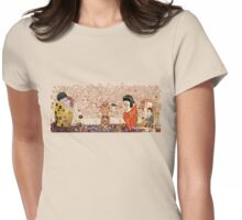 Kokeshis Klimt Womens Fitted T-Shirt