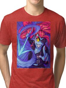 Undyne's Determination Tri-blend T-Shirt