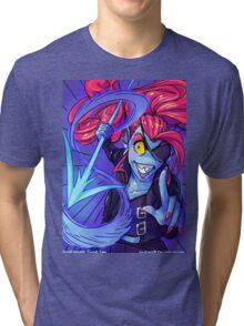Undyne's Determination Tri-blend T-Shirt