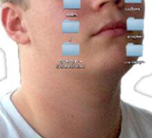 Yung Lean Cryin' Folderz Sticker