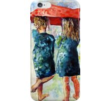 umbrella Girls in Green iPhone Case/Skin