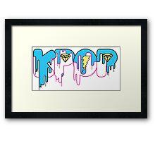 KPOP Drip Blue Framed Print