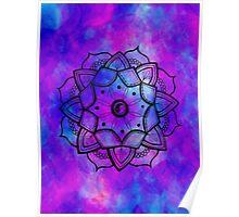 purple yin yang mandala Poster