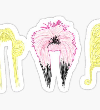 Wig In A Box  Sticker