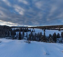 Snowy Mountain Scene in the Uinta's by Alan Mitchell