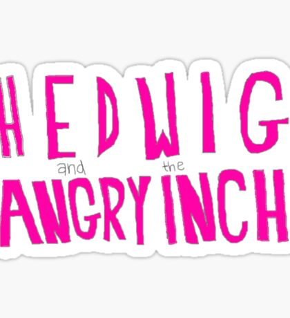 Hedwig and the Angry Inch (Pink Logo/Lightning Bolts) Sticker