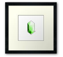green rupee Framed Print