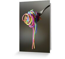 Rainbow Spaghetti Greeting Card