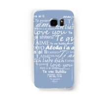 Heart I love you in other languages Samsung Galaxy Case/Skin