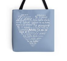 Heart I love you in other languages Tote Bag