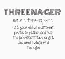 Threenager Kids Tee