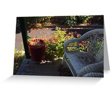 a spot to sit Greeting Card