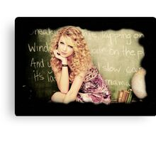 Cute Taylor Swift By RR Canvas Print