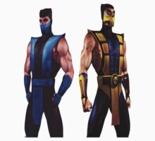 Mortal Kombat 4 Scorpion and Subzero One Piece - Long Sleeve
