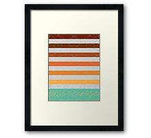 Abstract Wall With Water Framed Print
