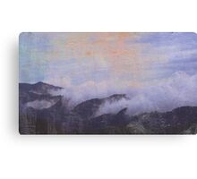mountains in clouds Canvas Print