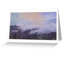 mountains in clouds Greeting Card