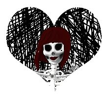 Red Heart Skeleton Photographic Print