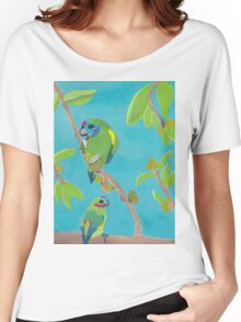 Fig Parrot Watercolour Painting Women's Relaxed Fit T-Shirt