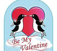 Love Penguins Valentine by ianlaverart