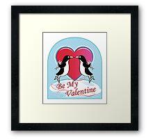 Love Penguins Valentine Framed Print