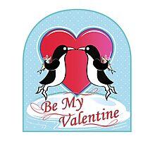 Love Penguins Valentine Photographic Print