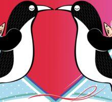 Love Penguins Valentine Sticker