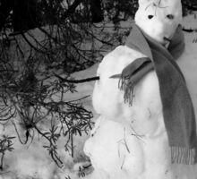 snow bunny person Sticker