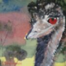 Emu In The Landscape by Kay Cunningham
