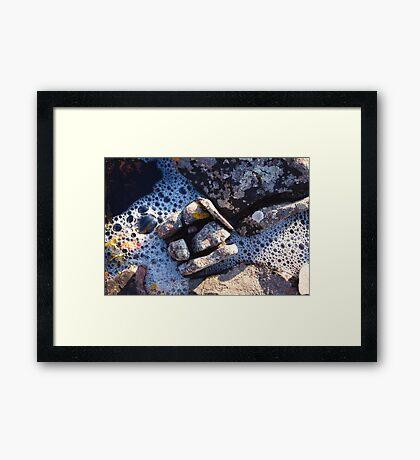 Saltwater & Stone Framed Print