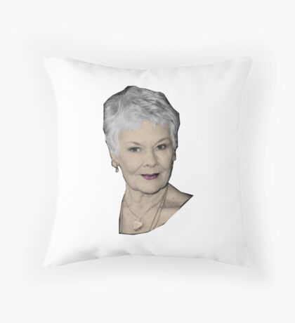 Judi - The Great Dames Throw Pillow