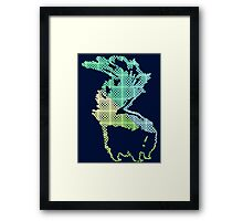 Checkerboard Skunk Framed Print