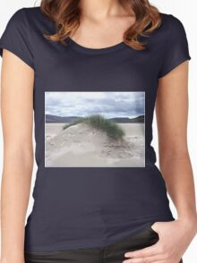 Sand Dune with Mohican Haircut - Western Isles Women's Fitted Scoop T-Shirt