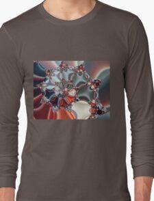 Satin Spiral Fractal Long Sleeve T-Shirt