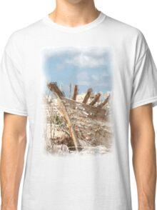 Watercolour - A Wreck at Masarla Classic T-Shirt