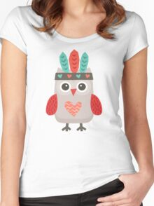 Hipster Owlet Mint v2 Women's Fitted Scoop T-Shirt