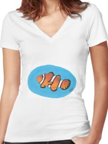 Clownfish Icon Women's Fitted V-Neck T-Shirt