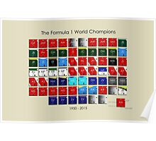 Periodic table of F1 World champions Poster