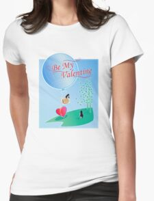 Penguin Valentine Womens Fitted T-Shirt